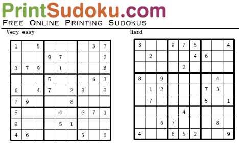 for Sudoku facile da stampare