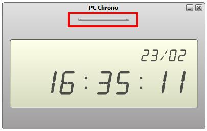 orologio digitale desktop