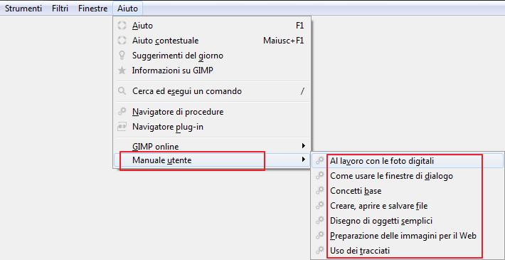 manuale di gimp in italiano
